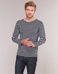 Textil Muži Trička s dlouhými rukávy Armor Lux VERMO Tmavě modrá / Bílá