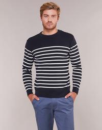 Textil Muži Svetry Armor Lux MARIO Tmavě modrá / Bílá
