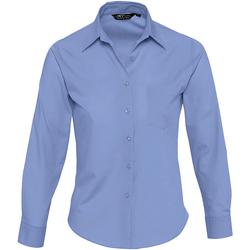 Textil Ženy Košile / Halenky Sols EXECUTIVE POPELIN WORK Azul