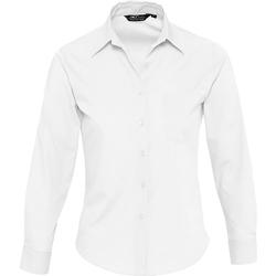 Textil Ženy Košile / Halenky Sols EXECUTIVE POPELIN WORK Blanco