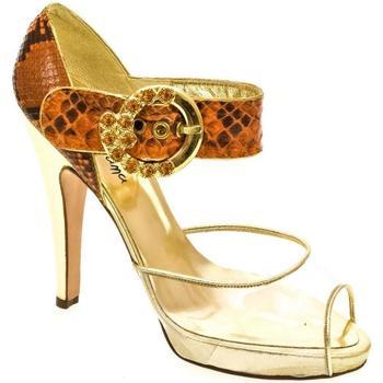 510b57b8f485 John-C Sandály Dámske oranžové sandále HELY - Oranžová