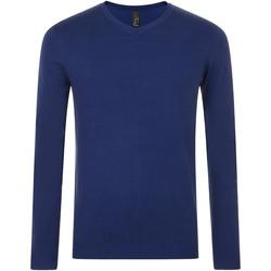 Textil Muži Svetry Sols GLORY SWEATER MEN Azul