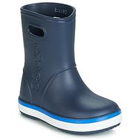 Boty Děti Holínky Crocs CROCBAND RAIN BOOT K Tmavě modrá