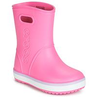 Boty Dívčí Holínky Crocs CROCBAND RAIN BOOT K Růžová