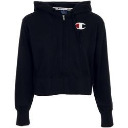 Textil Ženy Mikiny Champion Hooded Full Zip Sweatshirt Černá