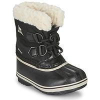 Boty Děti Zimní boty Sorel CHILDRENS YOOT PAC NYLON Černá
