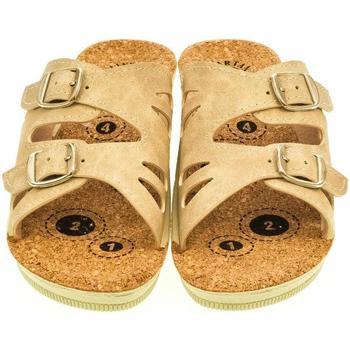 Boty Ženy Dřeváky Mjartan Dámske papuče  FELISHA béžová