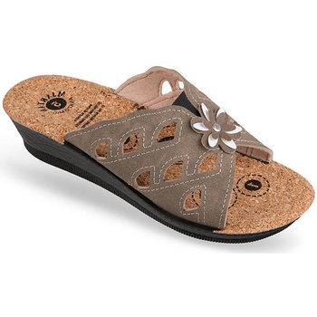 Boty Ženy Dřeváky Mjartan Dámske papuče  FILLY hnedá