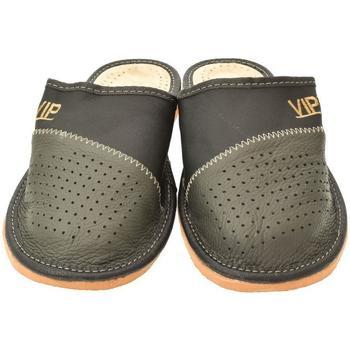 Boty Muži Papuče John-C Pánske sivé papuče VIPMEN tmavosivá