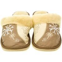 Boty Ženy Papuče John-C Dámske béžovo-hnedé papuče SNOW ťavia