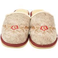 Boty Ženy Papuče John-C Dámske béžovo-červené papuče KVETY červená