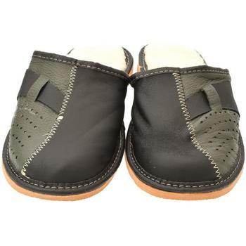 Boty Muži Papuče John-C Pánske sivo-modré papuče JOSEFF tmavosivá