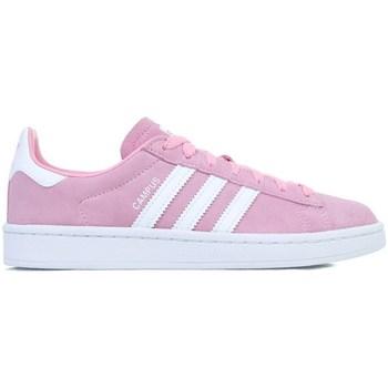 Boty Dívčí Nízké tenisky adidas Originals Campus J Bílé,Růžové