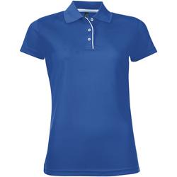 Textil Ženy Polo s krátkými rukávy Sols PERFORMER SPORT WOMEN Azul