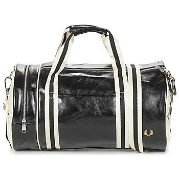 Taška Muži Sportovní tašky Fred Perry CLASSIC BARREL BAG Černá