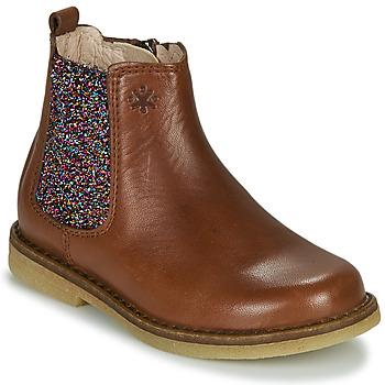 Boty Dívčí Kotníkové boty Acebo's 5274-CUERO-J Zlatohnědá