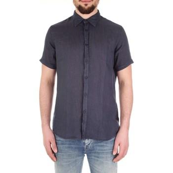 Textil Muži Košile s krátkými rukávy Fred Mello FM19S27CU Modrá