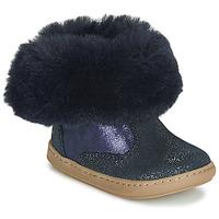 Boty Dívčí Kotníkové boty Shoo Pom BOUBA FUR BOOTS Tmavě modrá