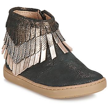 Boty Dívčí Kotníkové boty Shoo Pom PLAY HURON Černá / Stříbřitá