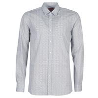 Textil Muži Košile s dlouhymi rukávy BOSS ELISHA02 Šedá