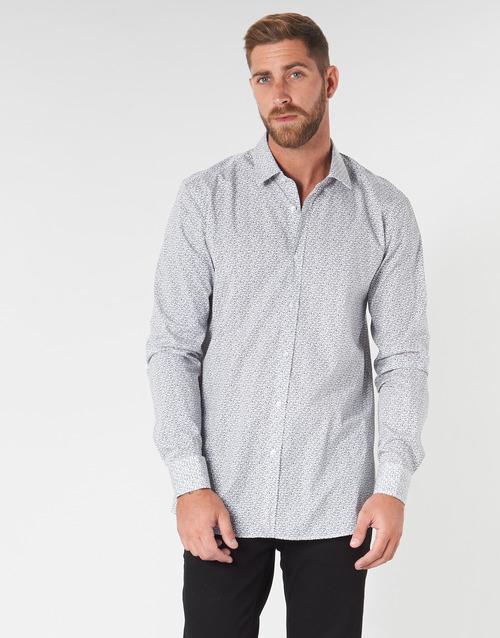 Textil Muži Košile s dlouhymi rukávy HUGO ELISHA02 Šedá