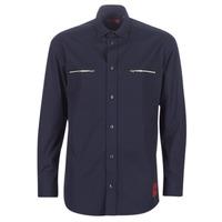 Textil Muži Košile s dlouhymi rukávy BOSS ETRUS Tmavě modrá