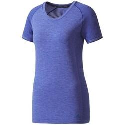 Textil Ženy Trička s krátkým rukávem adidas Originals Primeknit Wool Fialová