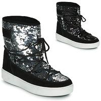 Boty Ženy Zimní boty Moon Boot MOON BOOT PULSE MID DISCO Černá / Třpytivá