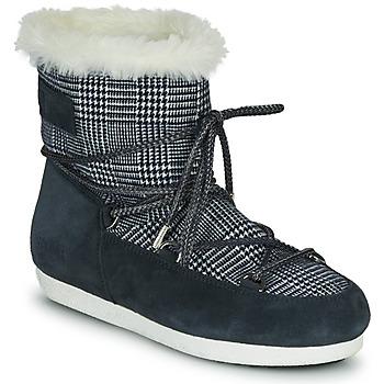 Boty Ženy Zimní boty Moon Boot MOON BOOT FAR SIDE LOW FUR TARTAN Tmavě modrá