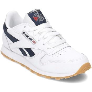 Boty Chlapecké Nízké tenisky Reebok Sport Classic Leather Bílé, Tmavomodré