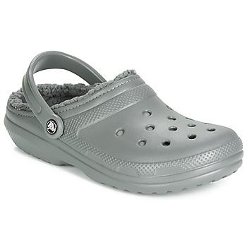 Boty Pantofle Crocs CLASSIC LINED CLOG Šedá
