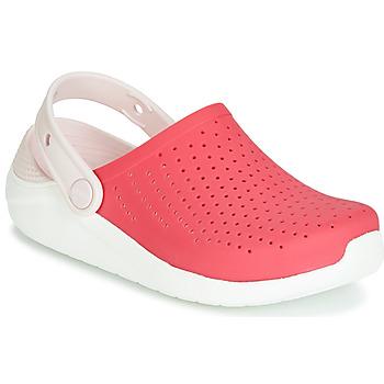 Boty Dívčí Pantofle Crocs LITERIDE CLOG K Červená / Bílá