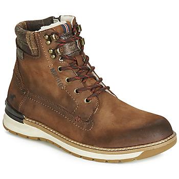 Boty Muži Kotníkové boty Mustang 4141602-362 Hnědá