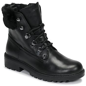 Boty Dívčí Kotníkové boty Geox J CASEY GIRL WPF Černá