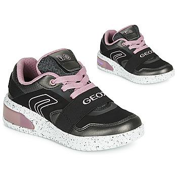 Geox Tenisky Dětské J XLED GIRL - Černá