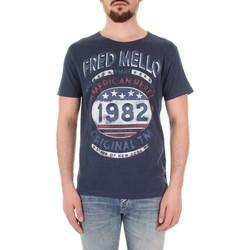 Textil Muži Trička s krátkým rukávem Fred Mello FM19S09TG Modrá