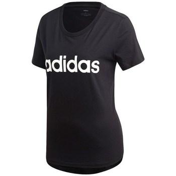 Textil Ženy Trička s krátkým rukávem adidas Originals Essentials Linear Slim Černá