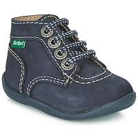 Boty Děti Kotníkové boty Kickers BONBON Tmavě modrá