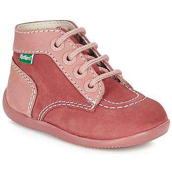 Boty Dívčí Kotníkové boty Kickers BONBON Růžová
