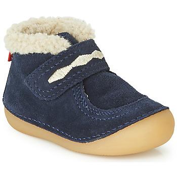 Boty Děti Kotníkové boty Kickers SOETNIC Tmavě modrá