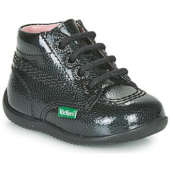 Boty Dívčí Kotníkové boty Kickers BILLISTA ZIP Černá