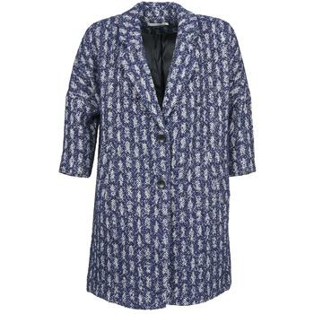 Textil Ženy Kabáty See U Soon RIFFLE Modrá / Bílá