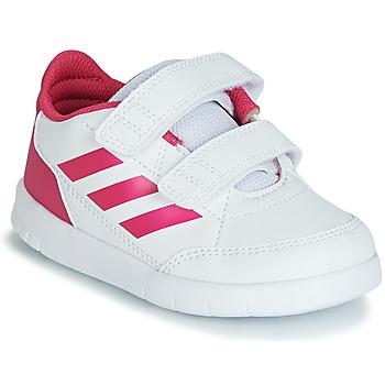 Boty Dívčí Nízké tenisky adidas Performance ALTASPORT CF I Bílá / Růžová