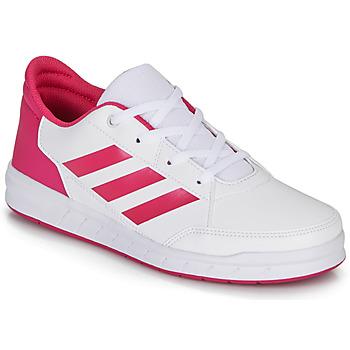 Boty Dívčí Nízké tenisky adidas Performance ALTASPORT K Bílá / Růžová