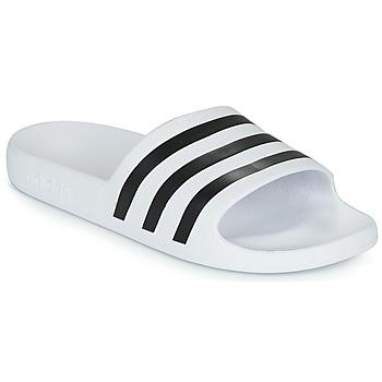 Boty pantofle adidas Performance ADILETTE AQUA Bílá