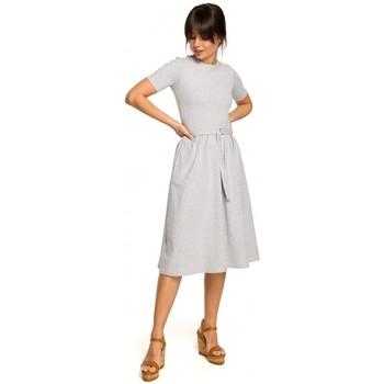 Textil Ženy Bundy Be B120 Přiléhavé midi šaty - černé