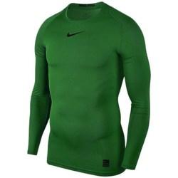 Textil Muži Trička s dlouhými rukávy Nike Pro Top Compression Zelené
