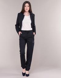 Textil Ženy Cargo trousers  G-Star Raw FELDSPAR HIGH STRAIGHT CARGO Tmavě modrá