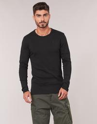 Textil Muži Trička s dlouhými rukávy G-Star Raw BASE TEE Černá