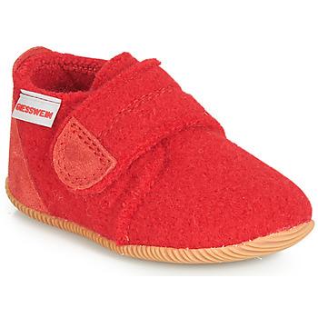 Boty Děti Papuče Giesswein OBERSTAUFFEN Červená